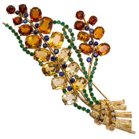 LaCloche Paris Colored Stone Bouquet Brooch
