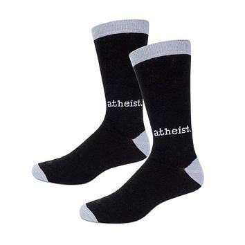Atheist Men's Socks in Black and Gray