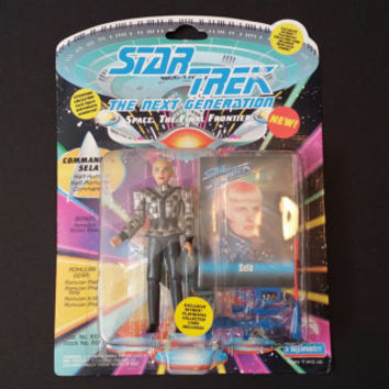 Vintage Star Trek The Next Generation Sela Romulan Action Figure Playmates 1993 #6056 With Collectors Card Unopened Original Packaging
