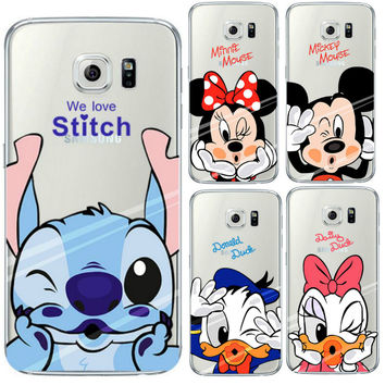 Minnie Mickey Case For Coque iPhone 7 6 6S 5 5S 5C SE for Samsung Galaxy J3 J5 A3 A5 2016 2015 Grand Prime S5 S6 S7 Edge Cases