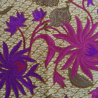 Guaranteed Dutch Java Print fabric/ vintage veritable Java Hollandais fabric/ tribal ethnic flower leaves/ pink and purple floral 1 5/8 yard