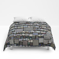 Retro Squared Pattern Comforters by kasseggs