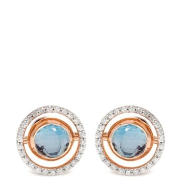 Diamond, amethyst, topaz & pink-gold earrings | Marie Mas | MATCHESFASHION.COM US