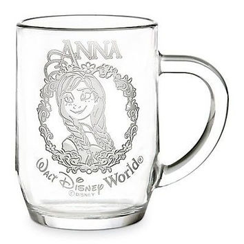disney parks authentic frozen princess anna glass mug arribas new with box