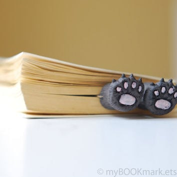 Black friday Etsy Sale.Cat paws .Bear paws in the book. Funny gift. Cat in book for child, children, kids, for her, all, hostess. oht