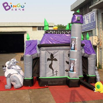Halloween Inflatable Haunted House 5X4X4.2 Meters