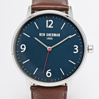 Ben Sherman Leather Strap Watch