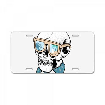 skull holiday License Plate