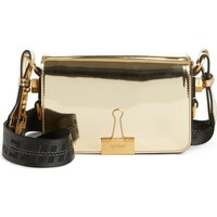 Off-White Metallic Mini Flap Bag | Nordstrom
