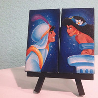 custom disney canvas set of two made to order by Jaysart on Etsy