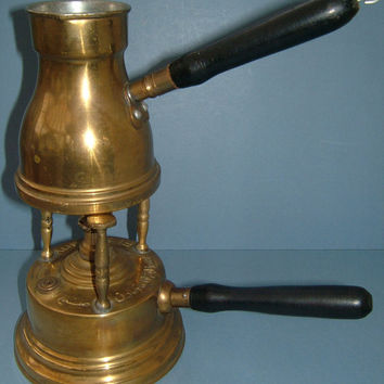 Edwardian Brass Oil Fired El Soutany Burner Middle Eastern - For Coffee or Food