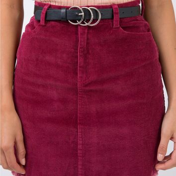 Viserce Cord Mini Skirt
