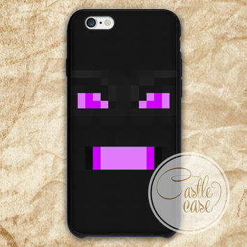 Minecraft big enderdragon Black White iPhone 4/4S, 5/5S, 5C Series Hard Plastic Case