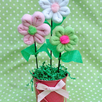 Washcloth Flower Bouquet Baby Gift by babyblossomco on Etsy