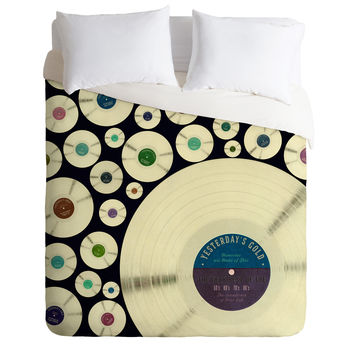 Belle13 Evergreen Music Duvet Cover