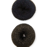 FOREVER 21 Glittery Bun Donut Set Black/Gold One