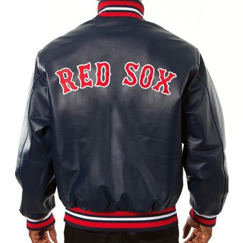 Boston Red Sox mens all leather jacket