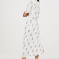 Dress with pin-tucks - White/Floral - Ladies | H&M GB