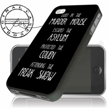 American Horror Story Four Seasons iPhone 4s iPhone 5 iPhone 5s iPhone 6 case, Samsung s3 Samsung s4 Samsung s5 note 3 note 4 case, Htc One Case