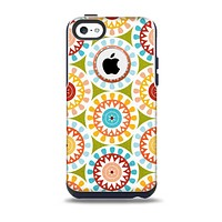 The Vintage Vector Color Circle Pattern Skin for the iPhone 5c OtterBox Commuter Case