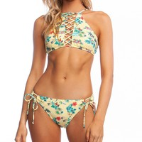 Hobie Aloha State of Mind Strappy High Neck Swimsuit Top & Hipster Swimsuit Bottom   Dillard's