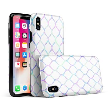 Iridescent Dahlia v7 - iPhone X Swappable Hybrid Case