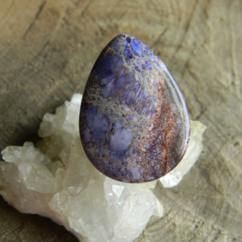 Purple Sea Sediment Jasper Tear Drop Cabochon