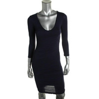 VELVET BY GRAHAM & SPENCER Womens Ruched Fitted Casual Dress