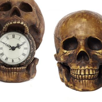 Skull Table Clock | Clocks | Accessories | Decor | Z Gallerie