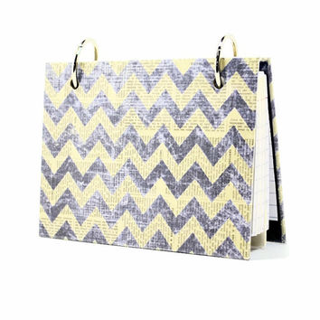 3 x 5 index card binder, navy blue chevron newsprint, daily memory journal, index card holder with a set of index card dividers