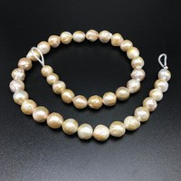 Baroque Style Special Shape Natural Pearl Gold Edison Pearl 11-14mm DIY Mother and son big Pearl beads P031