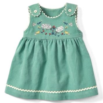 Mini Boden Farmyard Friends Corduroy Dress (Baby Girls & Toddler Girls) | Nordstrom