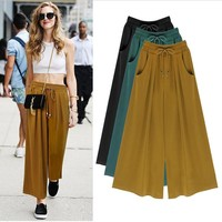 Womens Vintage Stylish Casual Wide Pants