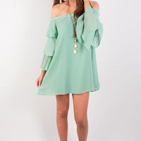 Mint To Be Ruffle Dress