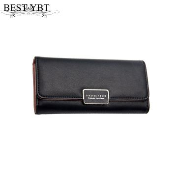 Mara's Dream 2017 Fashion Lady Bag Trifold Women Wallet Bag Popular Purse Long Bags PU Leather Handbags Card Holder Party Gift