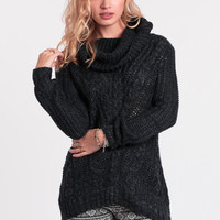 On My Mind Oversized Sweater In Navy