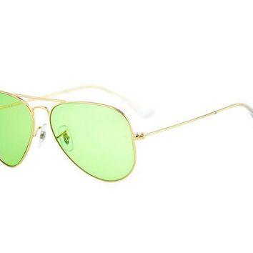 Gotopfashion Ray-Ban RB3025 Aviator Large Metal 001/14 Gold Frame/ Light green Unisex 58mm