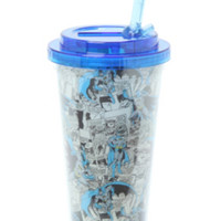 DC Comics Batman Flip Straw Travel Mug