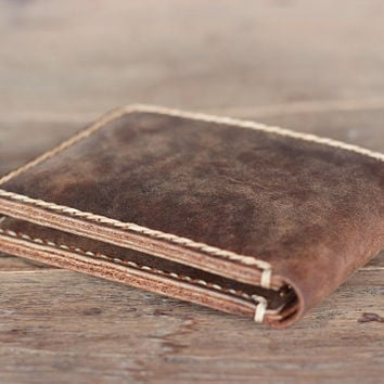 Wallet - Personalized Men's Leather Bifold Wallet - Groomsmen Gift