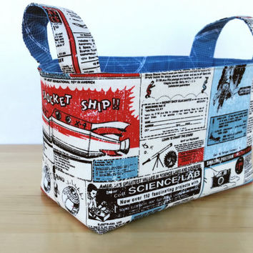 Rocket Age Medium-sized Fabric Basket Storage Bin