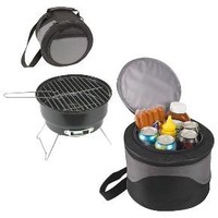 Picnic Time Caliente - Charcoal Grill with Tote/Cooler : Target