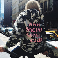 ANTI SOCIAL SOCIAL CLUB  Hoodies women hip hop Camouflage men Autumn Winter ASSC 3125c kanye west yeezy Hoodie Sweatshirts cots