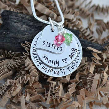 Unique sister gift - sister necklace - sister birthday gift