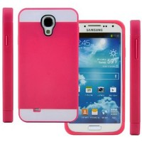Galaxy S4 Case, (Hot Pink / White), CellJoy® [Vivid Hybrid] **Dual Layer** TPU Case Phone Cover Skin **Card Storage** For Samsung Galaxy S4 SIV i9500