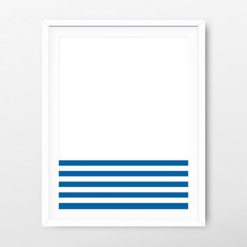 Printable Art Navy Strips - Minimalist Print - Printable Poster - Minimalist Art - Nursery Decor - Nursery Print - Nursery Art