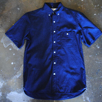 Rogue Territory Rinsed Indigo Chambray Jumper Short Sleeve