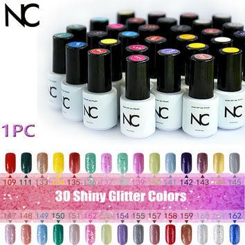 30 Glitter Colors Lac Bluesky Gel Lucky Polish Esmalte Gel Varnish UV soak off Gel Nail Polish Set of Nail Gel of Nail Primer