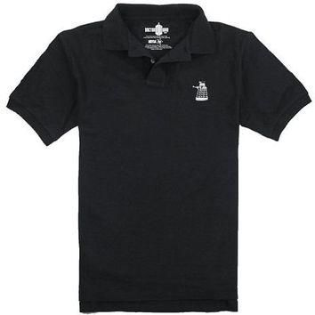 Dr. Who Dalek Black Polo Shirt - Doctor Who - | TV Store Online