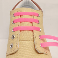 16pcs New 2016 Unisex Women Men Athletic Running No Tie Shoelaces Elastic Silicone Shoe Lace All Sneakers Fit Strap