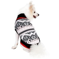Blueberry Pet 14-Inch Nordic Fair Isle Snowflakes Dog Sweater, Large
